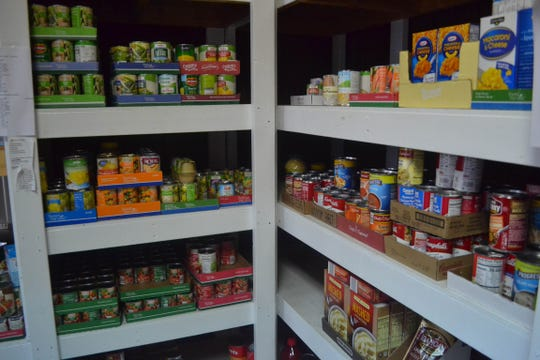 Food that lines the shelves of the Woodville Good Samaritan Food Pantry will be available during the next pickup days on Jan. 24 and 25.