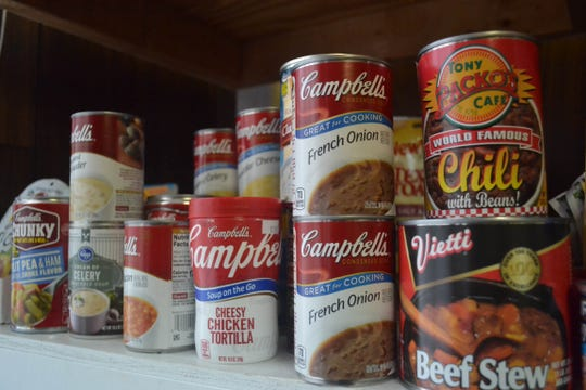 Food that lines the shelves of the Woodville Good Samaritan Food Pantry will be available during the next pick-up days on Jan. 24 and 25.
