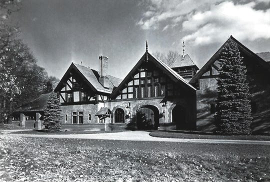 Completed in 1897 on the southwest portion of the Vanderbilt Estate in Hyde Park, this coach house housed horses and carriages transported on rail cars from the Vanderbilt's primary residence in New York City. The structure was modified in 1908 to accommodate Frederick Vanderbilt's automobile collection.