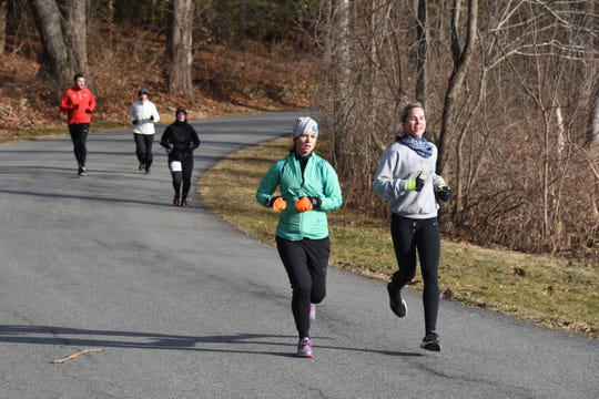More women participate in road races than men, according to reports.