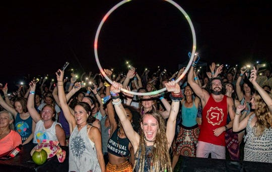 A scene from the Lovelight Yoga and Arts Festival.