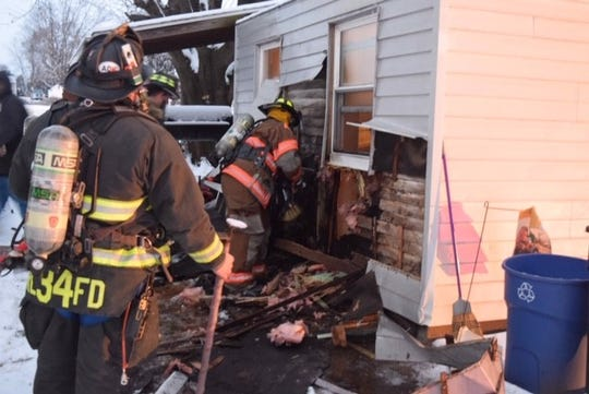 Crews respond to a fire in the 11,000 block of Winterstown Road Sunday, Jan. 13. Photo courtesy of South County Fire Photos.
