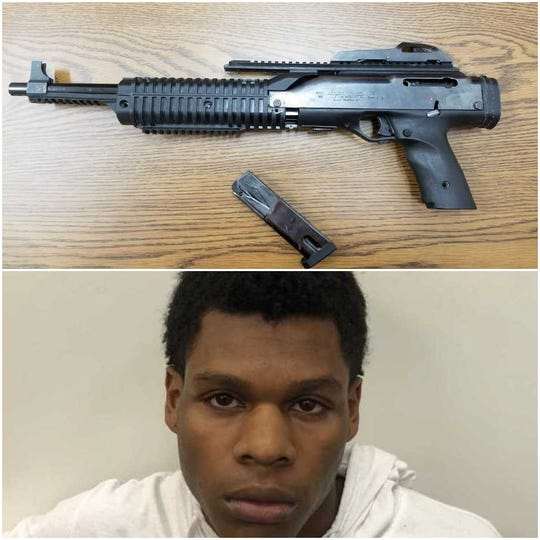 The alleged AK style gun used by carjacking suspect Ernest Kile Dyer, seen below.