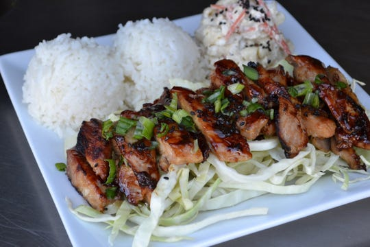 Kenji's restaurant, entrance on east side of Longley Lane just north of McCarran Boulevard, is doing pick-up orders during the coronavirus shutdown, including its Hawaiian plate lunches.