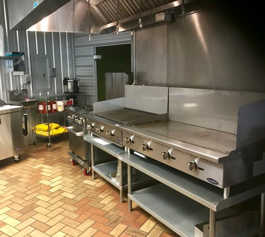 The kitchen at the new Kenji's restaurant on Longley Lane in South Reno.