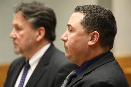 Suspended Rochester Police Officer, Michael Sippel, appeared with his attorney, Clark Zimmermann, before City Court Judge, Thomas Rainbow Morse, to argue motions for dismissal of the misdemeanor assault charge against him.