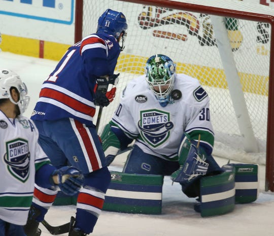 The Rochester Amerks play the Utica Comets Friday, Jan. 25, at Blue Cross Arena.