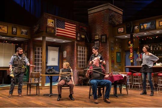 Nuah Ozreyl, Jennifer Cody, Patrick Noonan, Sean Patrick Doyle and Vanessa Morosco in Geva Theatre Center's 'Hard Cell.'