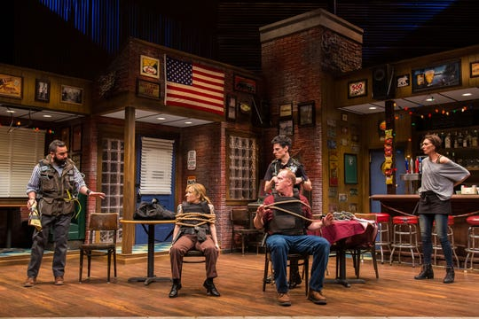 Nuah Ozreyl, Jennifer Cody, Patrick Noonan, Sean Patrick Doyle and Vanessa Morosco in Geva Theatre Center's 'Hard Cell.'
