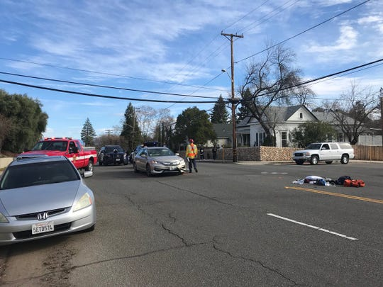Collision closes Placer and Willis streets in Redding.