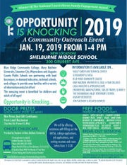 Opportunity is Knocking 2019 flier, courtesy of the Opportunity is Knocking Facebook page.