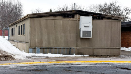 Officials are at Pleasantview Elementary School in Sauk Rapids assessing damage Monday, Jan. 14, after a fire Sunday night.