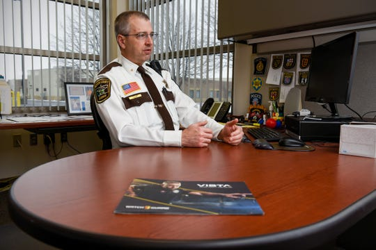From his office in Foley, Benton County Sheriff Troy Heck talks Monday, Jan. 14, about the department's acquisition of body cameras for deputies.