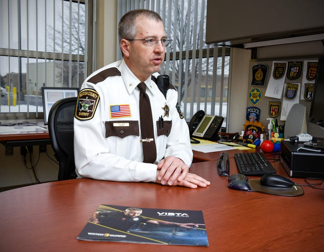 Benton County Sheriff Troy Heck talks about the department's acquisition of body cameras for deputies in January 2019.