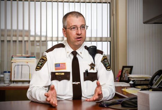 Benton County Sheriff Troy Heck talks about the department's acquisition of body cameras for deputies Monday, Jan. 14. Documents show costs to start the efforts are about $40,000.