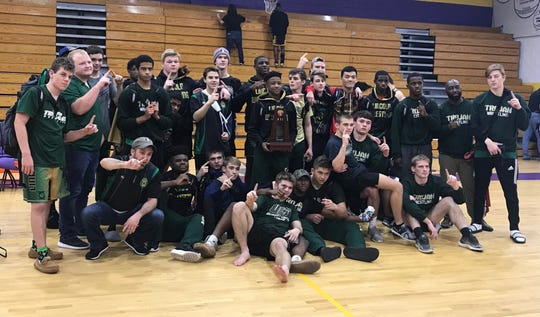 Lincoln's wrestling team captured a District 2-2A title last week, beating Gainesville and Lake City Columbia.