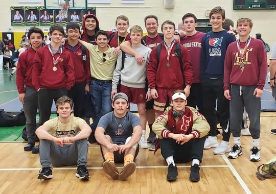 Florida High's wrestling team was the District 2-1A runner-up.