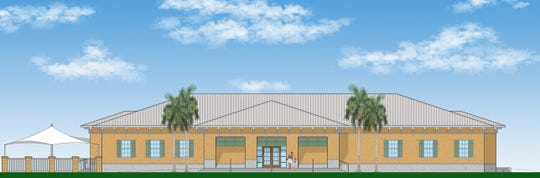 Artist's rendering of the planned 8,000-square-foot home for the Fellsmere branch of the Boys & Girls Clubs of Indian River County.  It would be constructed by 2020 adjacent to the Old Fellsmere School building on the City Hall complex.