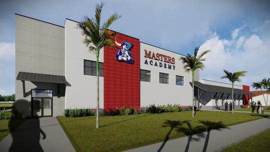 Artist rendering of the new gymnasium planned for Master's Academy of Vero Beach.