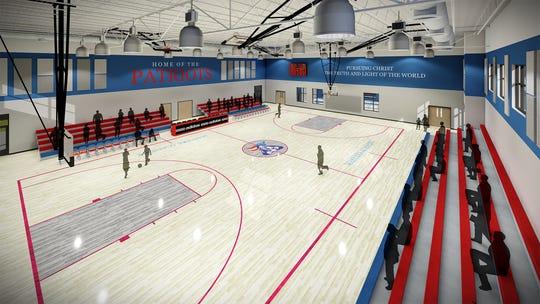Artist rendering of the new Patriot Multi-Purpose Gymnasium at Master's Academy of Vero Beach.