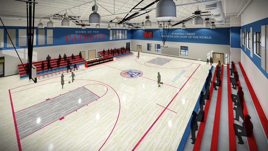 Artist rendering of the new Patriot Multi-Purpose Gymnasium at Master's Academy of Vero Beach.