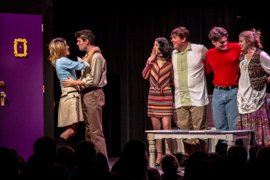 "A scene from the musical parody ""Friends,"" which is coming to El Paso."