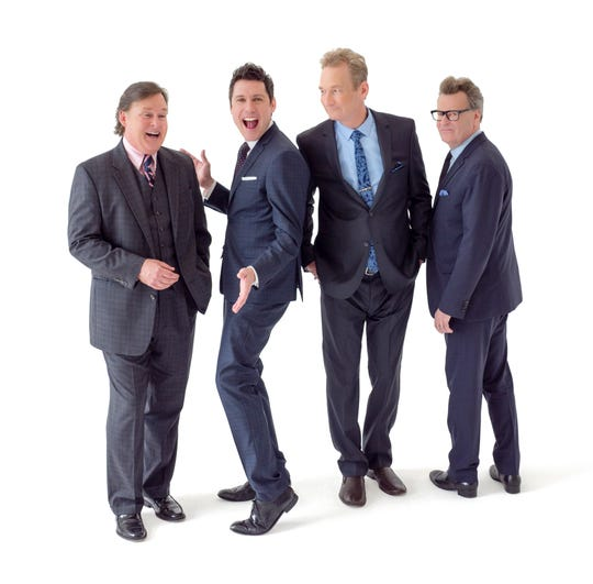 "The cast of ""Whose Live Anyway?"" — from left, Joel Murray, Jeff B. Davis, Ryan Stiles and Greg Proops — comes to the Thousand Oaks Civic Arts Plaza on Friday."