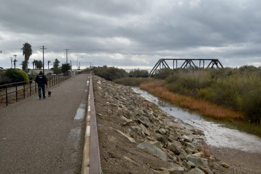 The bike path near the Ventura River in Ventura.