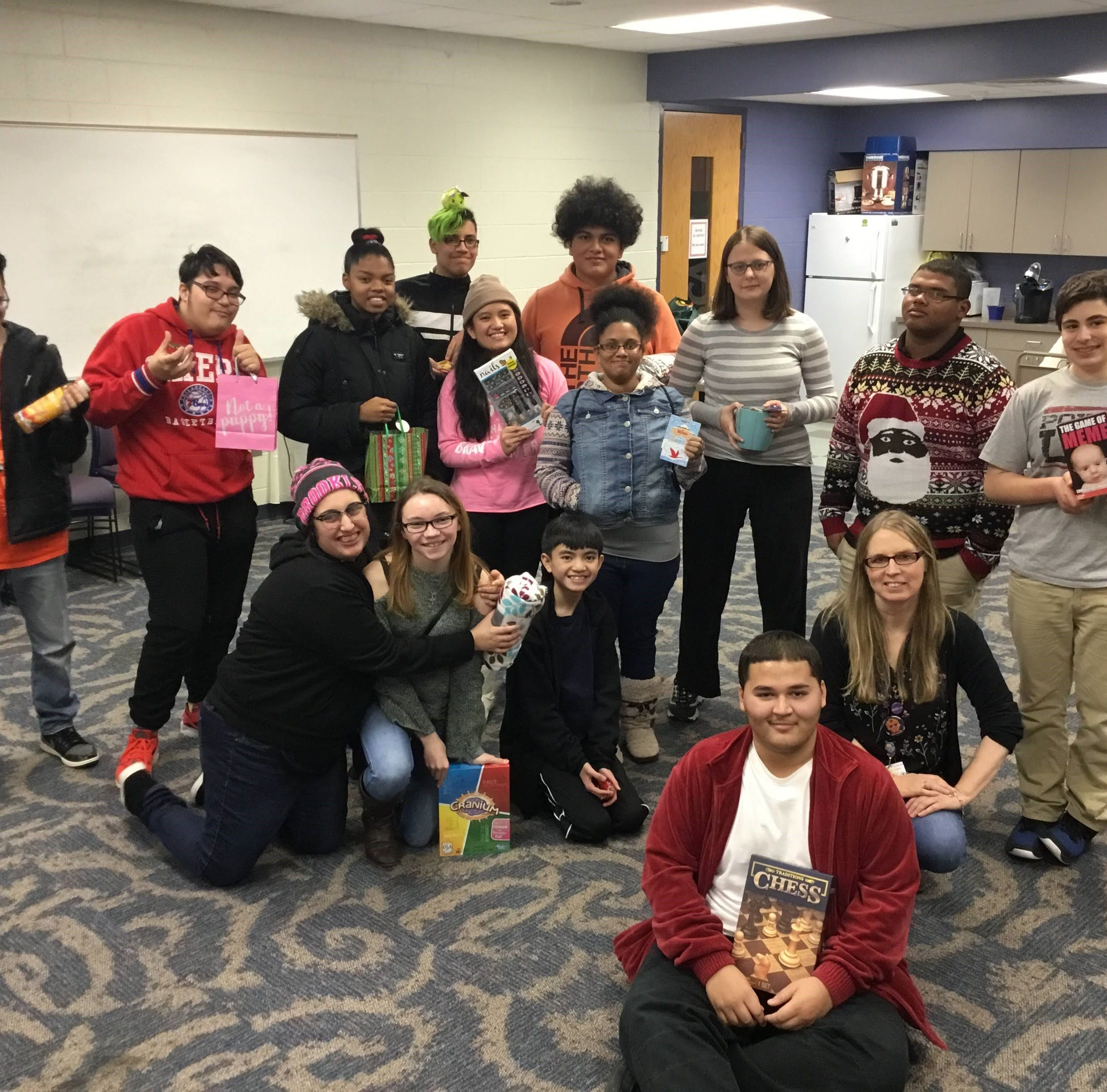 Teens celebrate winter at Vineland Public Library