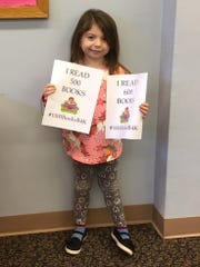 Aria Bertulis, 4, of Millville recently celebrated achieving two reading goals. She reacheda goal of 'reading' 500 and then 600 books as part of Cumberland County Library's 1000 Books Before Kindergarten Program.For library information, call (856) 453-2210 or visit www.cclnj.org.