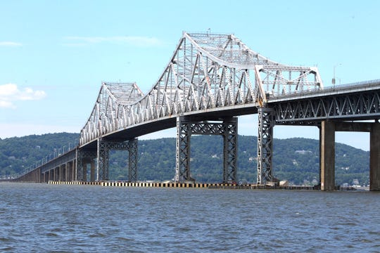 Farewell: The Tappan Zee Bridge stands alone in 2013, before work on its replacement began.