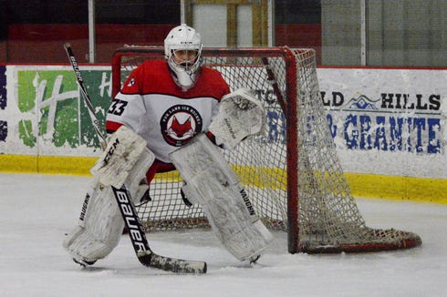 Daniel Rojas can't believe he's on the ice after coming to the varsity team at Fox Lane with no experience. The freshman answered an email seeking help between the pipes last spring and has worked tirelessly since.
