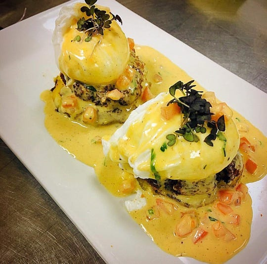 Crab Causa Benedict at Maura's Kitchen in Nyack.