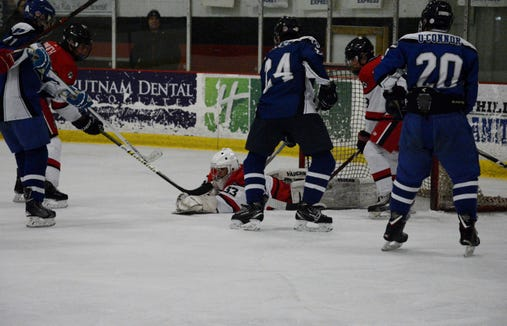 Fox Lane net minder Daniel Ramos has been a fixture at goalie clinics and lessons since he committed to hockey in the spring.