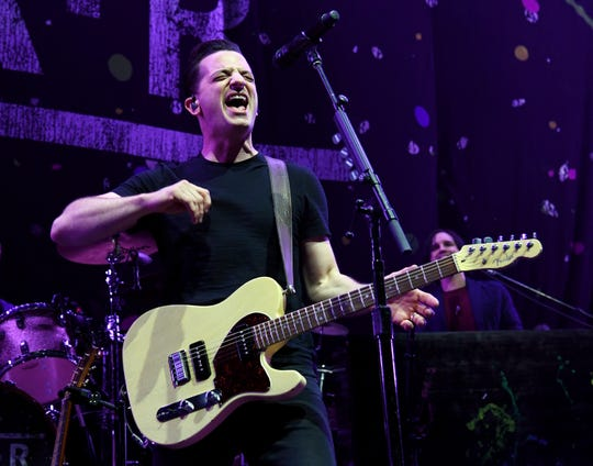 Singer/guitarist Marc Roberge of O.A.R. performs as the band opens for Train at MGM Grand Garden Arena on May 12, 2017 in Las Vegas, Nevada.