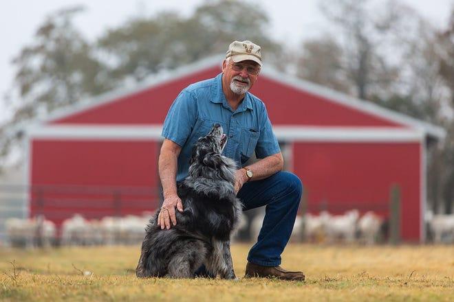 Joe Sheeran and Woody, the 2019 Farm Bureau Farm Dog of the Year.