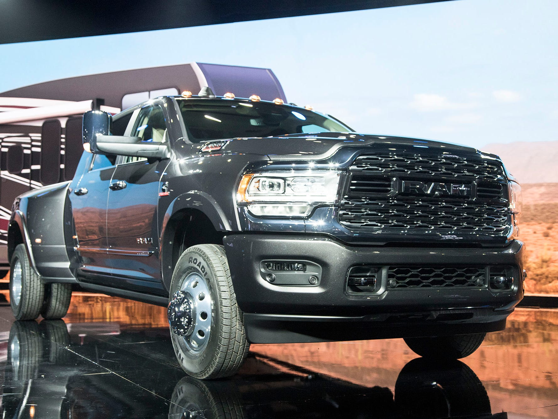 Ram debuts the 2019 3500 heavy duty truck.