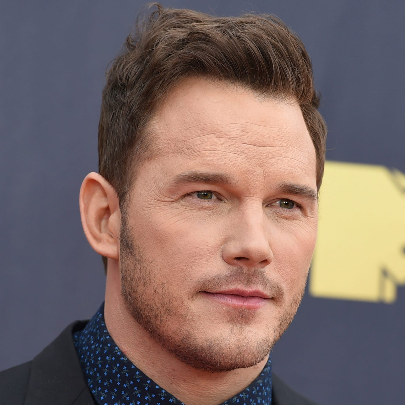 Chris Pratt at the MTV Movie and TV Awards on June 16, 2018, in Santa Monica, Calif., and fiance Katherine Schwarzenegger on Sept. 20, 2018, in Los Angeles.