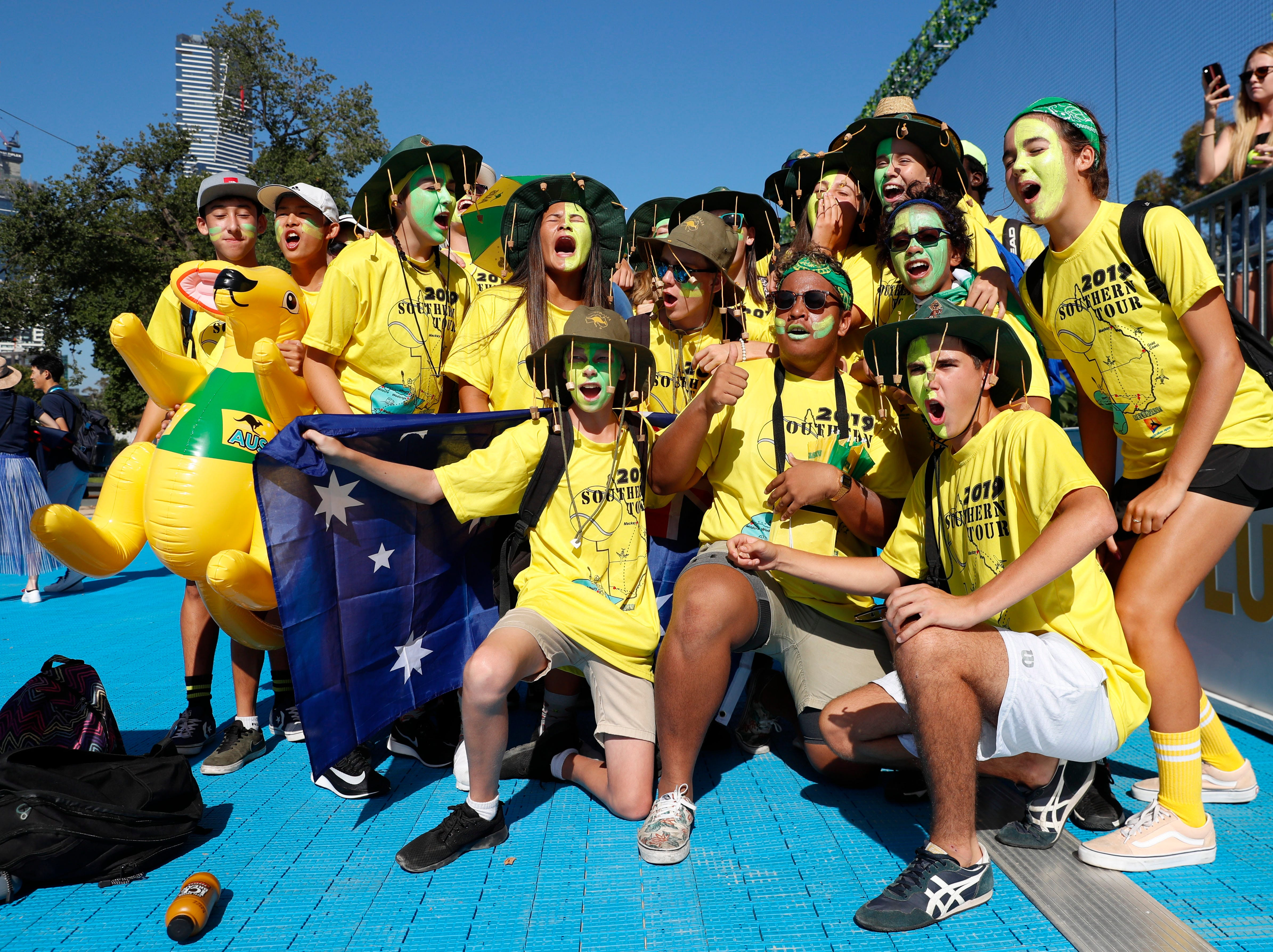 Australian tennis fans gear up for Day 1 of the tournament.