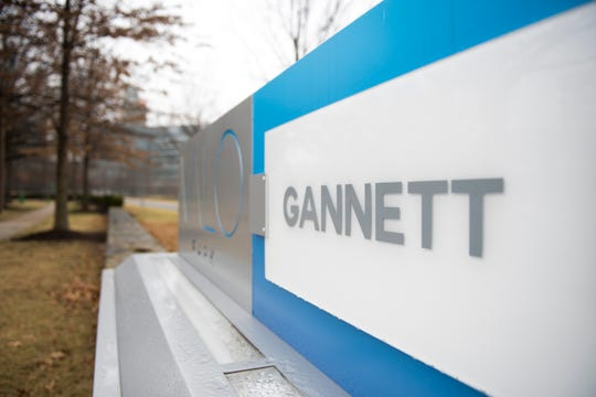 The sign at Gannett headquarters.