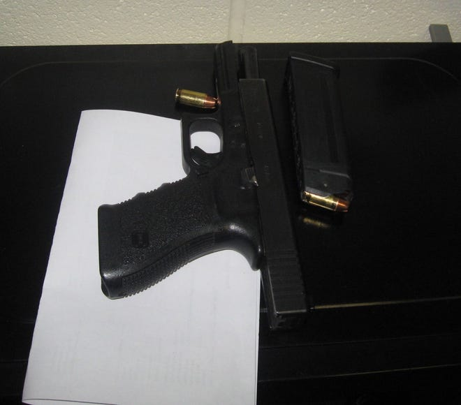 This handgun was found on a Ohio kindergartener as he came to school on Friday. Police took the weapon and say the 6-year-old boy will not be charged.