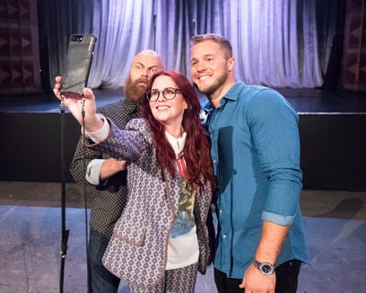 Colton's search for love starts with laughs, surprises and intense face-offs between the women. But first, a selfie with Nick Offerman and Megan Mullally.