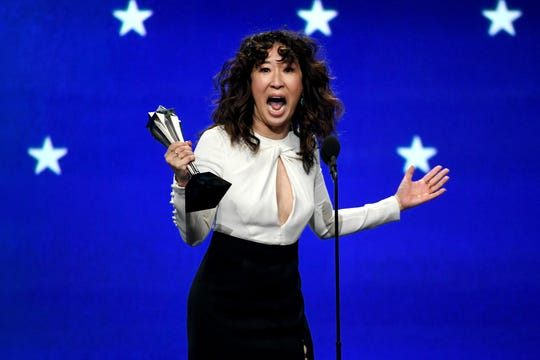 "Sandra Oh was named best actress in a drama series for ""Killing Eve."""