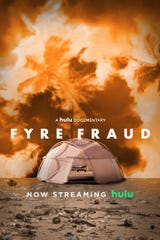 """This is the poster art for Hulu's documentary, """"Fyre Fraud."""""""