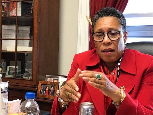Rep. Marcia Fudge, D-Ohio, talks about her plans for a House subcommittee on elections in her office on Capitol Hill in Washington Jan. 11, 2019.