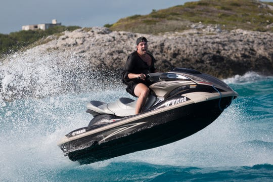 Billy McFarland, here on a jetski, is currently serving a 6-year prison sentence.
