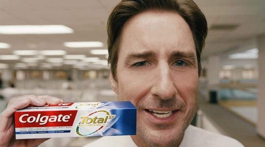 Luke Wilson stars in a new ad for Colgate Total that will air during the Super Bowl.