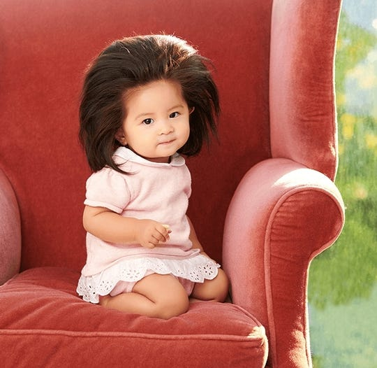 Baby Chancos Viral Long Hair Lands Her Pantene Ad In Japan