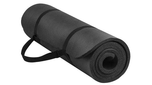 A good yoga mat is a must if you work out at home.