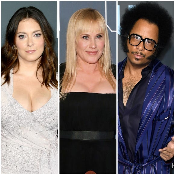 """Rachel Bloom, Rachel Arquette and Boots Riley all talk at the """"Critics' Choice Awards"""" red carpet about what they feel comfortable critiquing."""